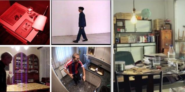 Un collage d'imatges dels cinc vídeos que formen part de l'exposició en línia