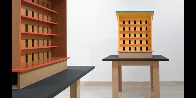 Obra de Thomas Schütte titulada 'Per als ocells', present a l'exposició