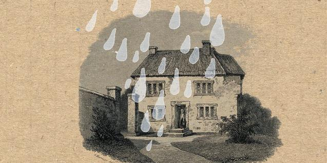 La portada del nuevo disco de los Tilde es un dibujo de una casa bajo la lluvia