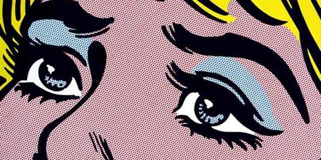 Detalle de la obra 'Sad Eyes', de Toni Sánchez