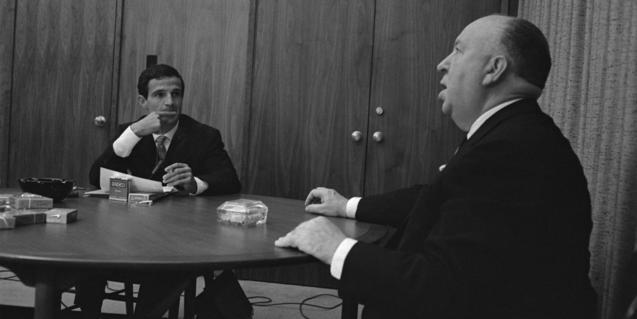 Truffaut y Hitchcock en 1962