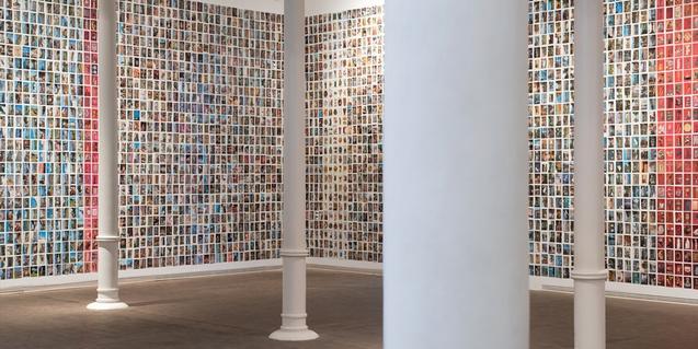 Fotografía de la exposición de Oriol Vilanova a la Fundació Tàpies