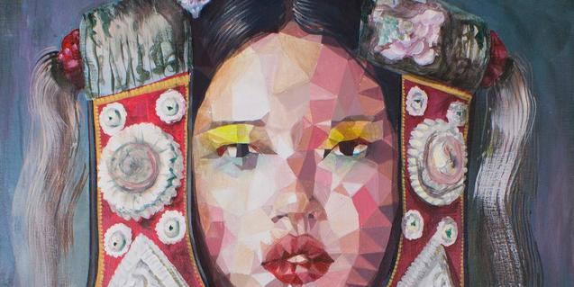Una de les imatges calidoscòpiques de l'artista Uriginal