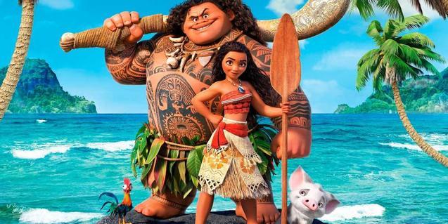 Maui ayuda a Vaiana.