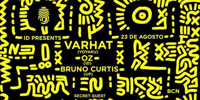 Un cartell amb dibuixos d'inspiració africana de color groc i negre serveix per anunciar aquesta cita musical