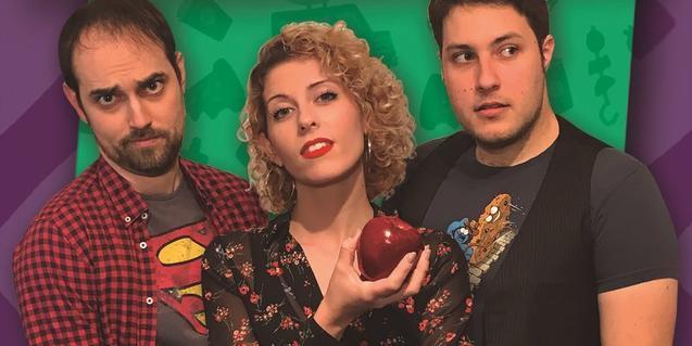 Els tres intèrprets de 'Veganos, el musical'