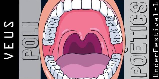 El dibuix d'una gran boca oberta serveix de cartell per anunciar el festival