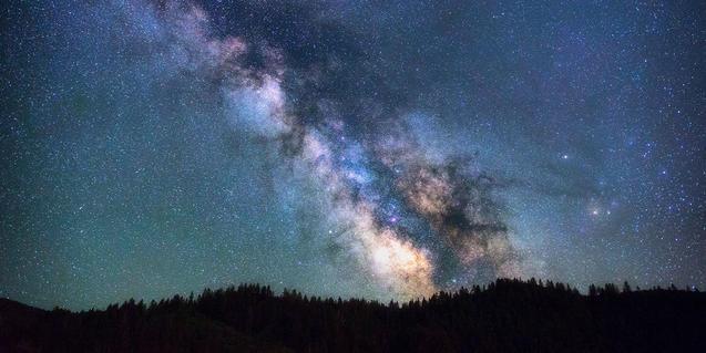 Imatge de la Via Làctia des de la Terra