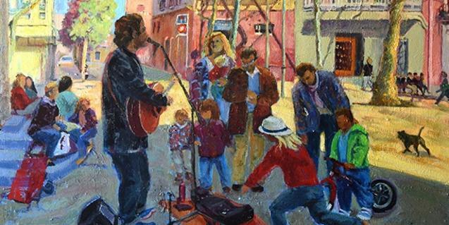 Una de las pinturas de Montserrat Calsina