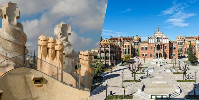 Visita combinada a La Pedrera i el Recinte Modernista de Sant Pau