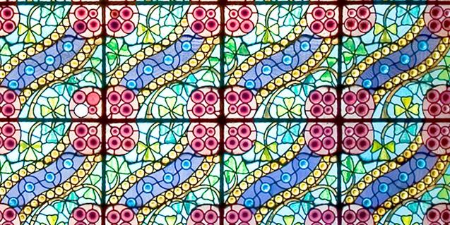 Uno de los vitrales de la Casa Amatller