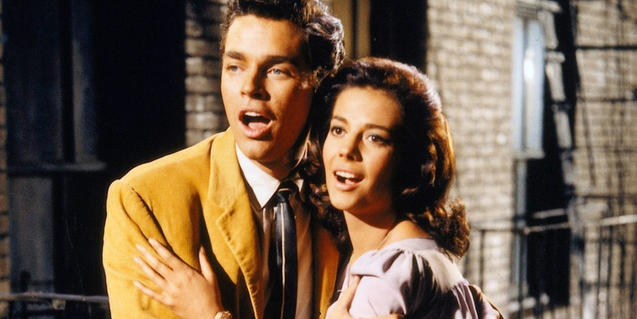 Richard Beymer and Natalie Wood in 'West Side story'