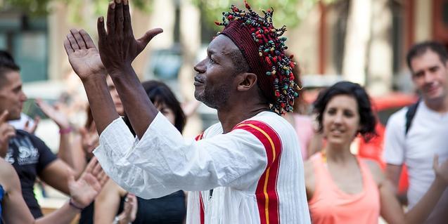 El compositor i músic camerunès Xumo, un dels participants