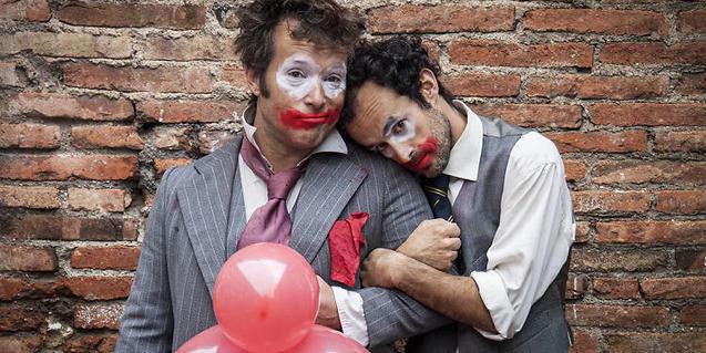 José Luis Redondo y Jorge Albuerne, los dos actores de la compañía Vacas