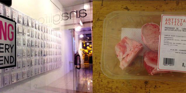 Una obra de l'artista Natalia Carminati que fa referència a la cadena alimentària