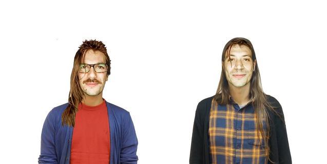 Los dos integrantes de la banda barcelonesa Za!