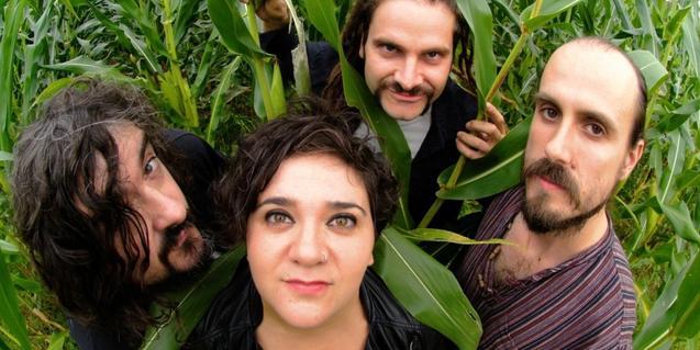 Els integrants de la banda basca de rock Zea Mays
