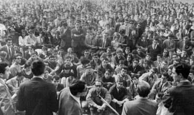 Imatge de 'La Caputxinada', moviment estudiantil que s'explica a 'La lluita antifranquista a la Universitat de Barcelona a l'entorn de 1969'