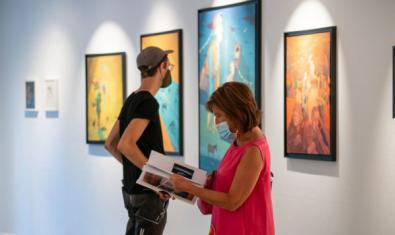 La exposición 'Hypnose' el día de la inauguración en la Montana Gallery Barcelona