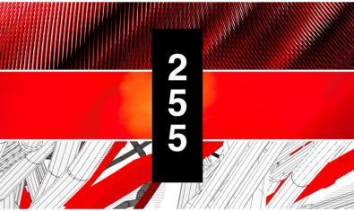 Una imagen que combina las diferentes formas geométricas que aparecen en las creaciones de los artistas sirven para anunciar la muestra