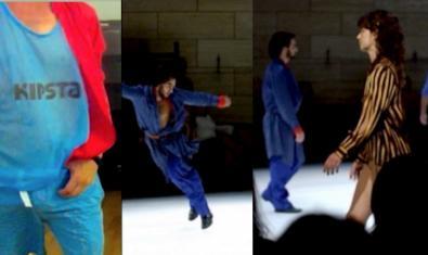 Un collage de fotografías muestra imágenes de distintas coreografías del artista