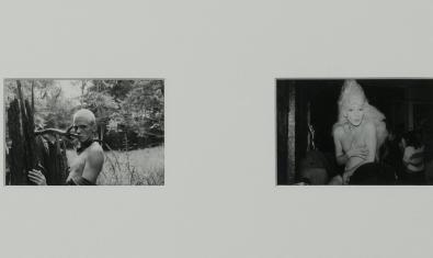 Un dels díptics fotogràfics de l'artista alemany amb una imatge d'un noi al camp i un altre de transvestit