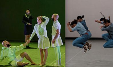 Un muntatge fotogràfic que combina imatges de les dues coreografies que s'interpreten al saT!