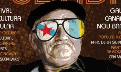 Cartel de La Foliada, que muestra a un abuelo gallego con unas modernísimas gafas de sol