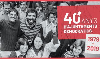 Cartel de los actos de conmemoración de los 40 años de ayuntamientos democráticos
