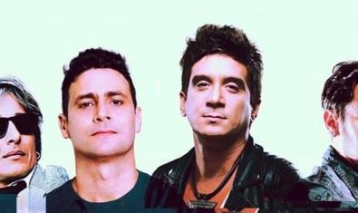 Un fotomuntatge mostra els rostres dels quatre artistes cubans que pugen a l'escenari del Sidecar