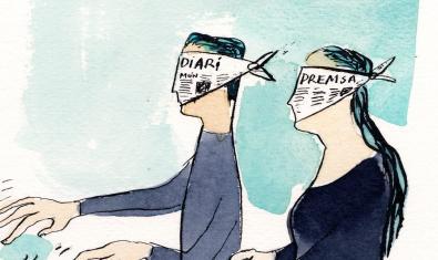 'A les palpentes', il·lustració de Joma