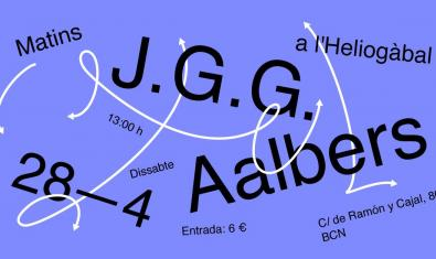 Cartel gráfico que anuncia el doble concierto de los J.G.G. y los Aalbers en Heliogàbal