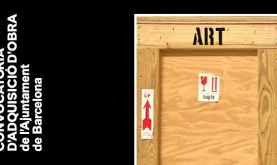 La imatge d'una obra d'art embalada serveix per donar publicitat a la convocatòria