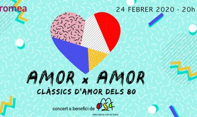 Cartell del concert Amor x Amor