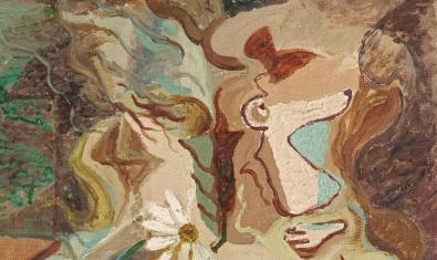 Detall de l'obra d'André Masson 'La Reine Marguerite', exposada a la galeria