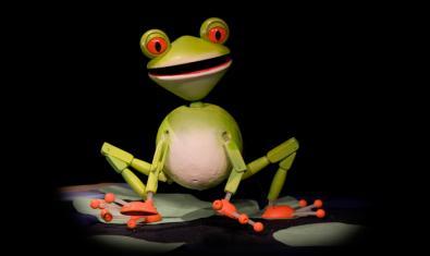 La rana es uno de los personajes de la función.