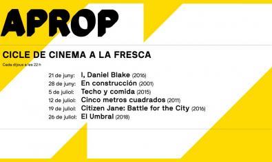 APROP, cicle de cinema a la fresca