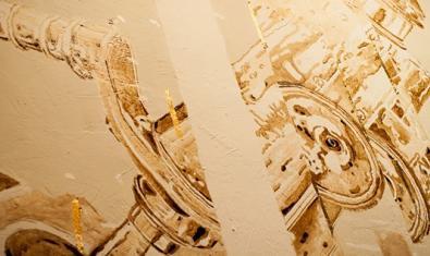 Un aspecte del mural de l'artista Mateo Fumero amb al·lusions a la ciència