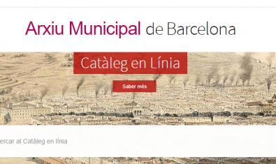 Portal web del Catálogo en Línea del Archivo Municipal de Barcelona
