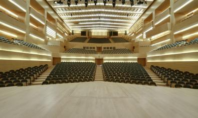 La Sala 1 Pau Casals de L'Auditori vista des de l'escenari
