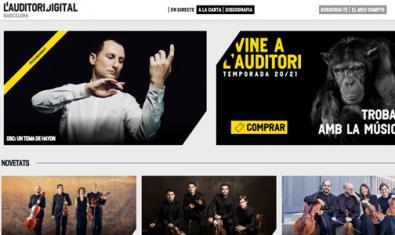L'Auditori de Barcelona keeps its programme online
