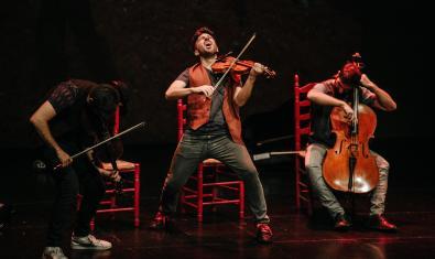 Aupa Quartet, en plena actuació.