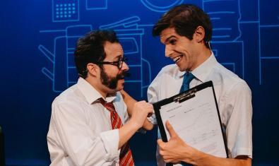 Álex Martínez Vidal (a l'esquerra) i Andreu Rami