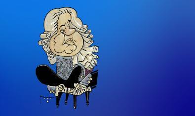 Una ilustración del genial compositor.