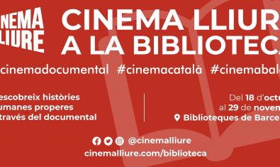 Cartel del ciclo Cinema Lliure a la Biblioteca
