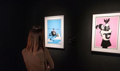 Una de les sales de l'exposició Banksy. The Art of Protest