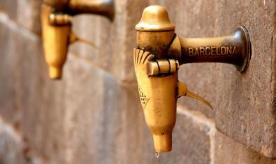Imagen de una fuente barcelonesa