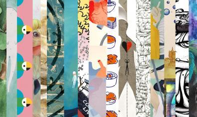 Un collage realizado con ilustraciones de diversos artistas