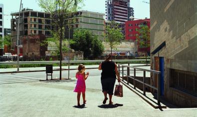 Una de les fotografies de l'exposició 'Barcelona vista del Besòs'