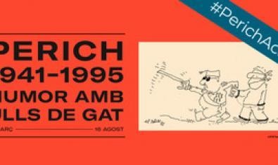 El cartell que anuncia l'exposició amb un dels dibuixos de Perich